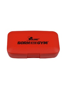 OLIMP SPORT NUTRITION Pillbox BORN in the GYM (Rouge)